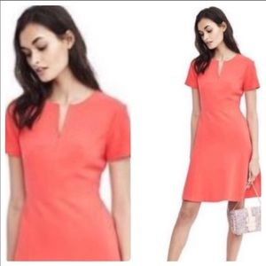 Gorgeous Mini A Lined Coral Dress 0
